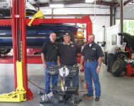 Mark, Michael McSwain of Fatback's Tire & Auto and John